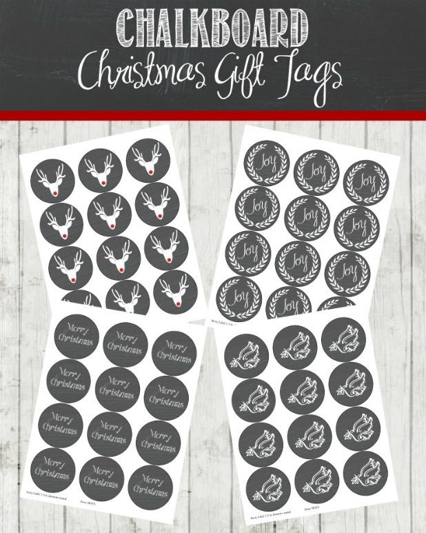 Chalkboard Christmas Gift Tags