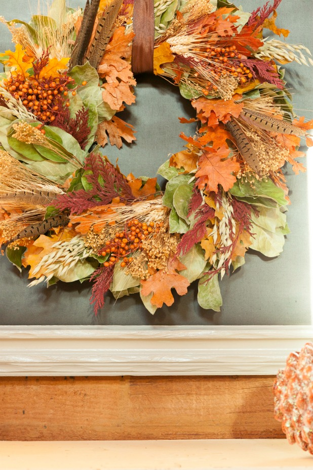 Upcycled Large Art Framed Turned into a Chalkboard Background for Seasonal Wreaths