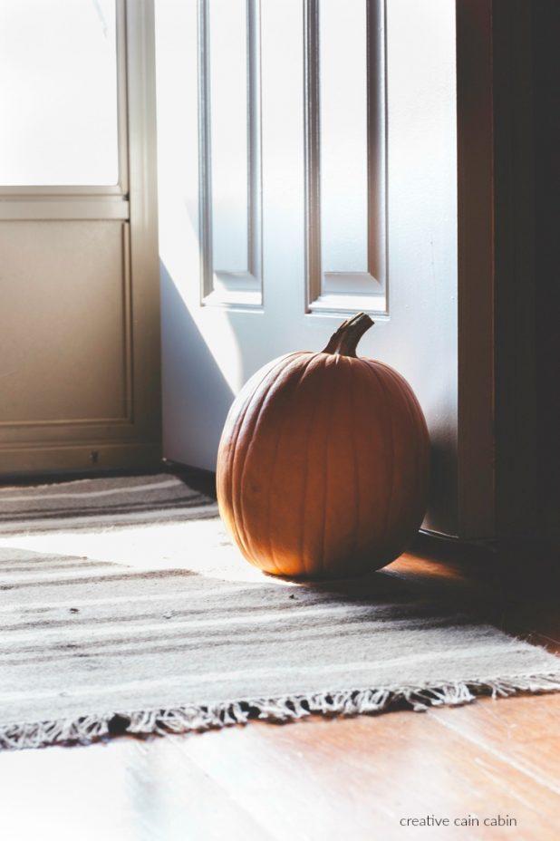 Use a Pumpkin in Fall as a Door Stop