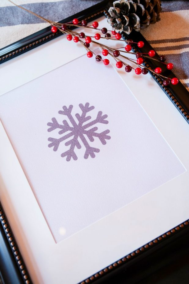 Glitter Paper Snowflake Art Free Printable for Winter