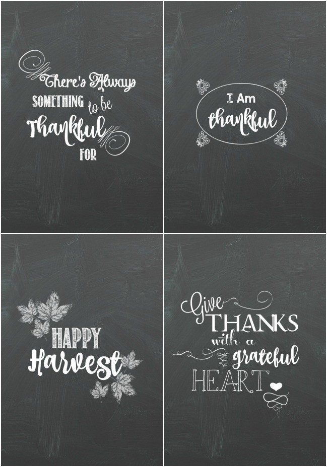 Thanksgiving Chalkboard Printables