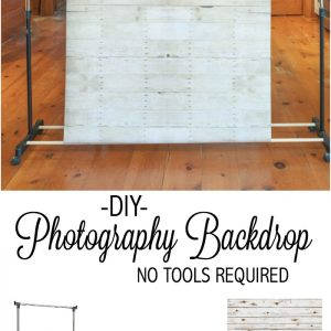DIY Photography Backdrop Tutorial, No Tools Required