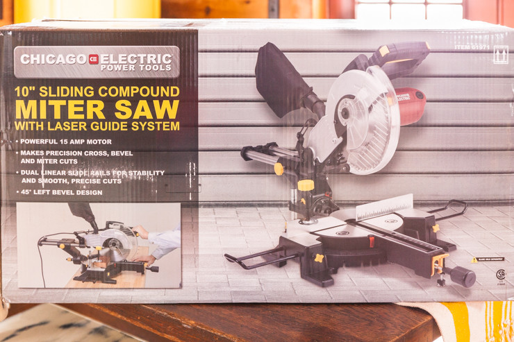 10 in. Sliding Compound Miter Saw with Laser Guide System | Chicago Electric Power Tools | Harbor Freight