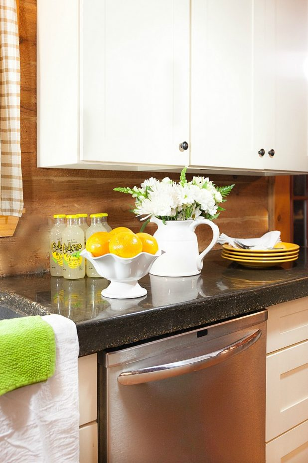 Styled Kitchen Countertop