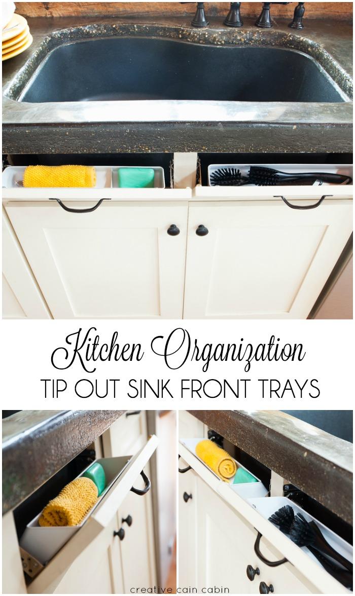 Kitchen Sink Organization Using Rev A Shelf Tip Out Sink Front Trays