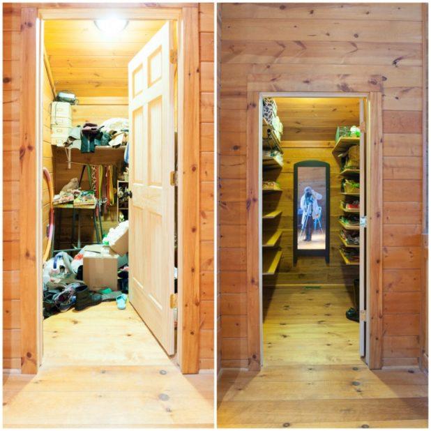Organized Shoe Room