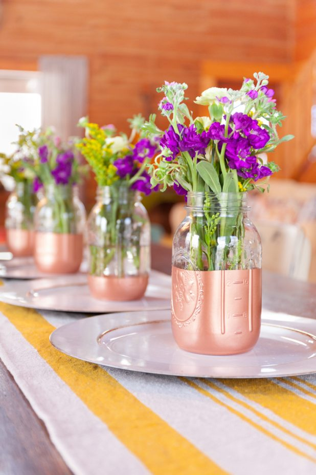 Copper Bottom Mason Jar Flower Vase Tutorial