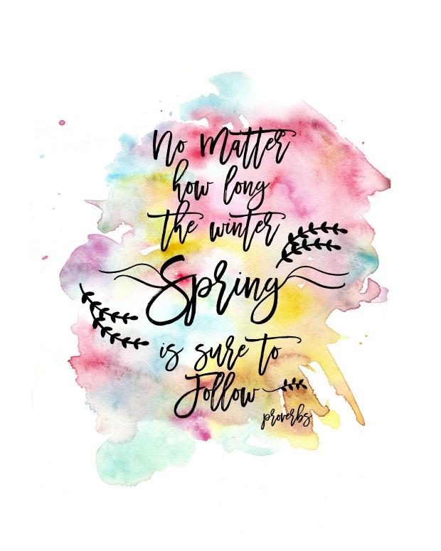 Spring Watercolor Printable