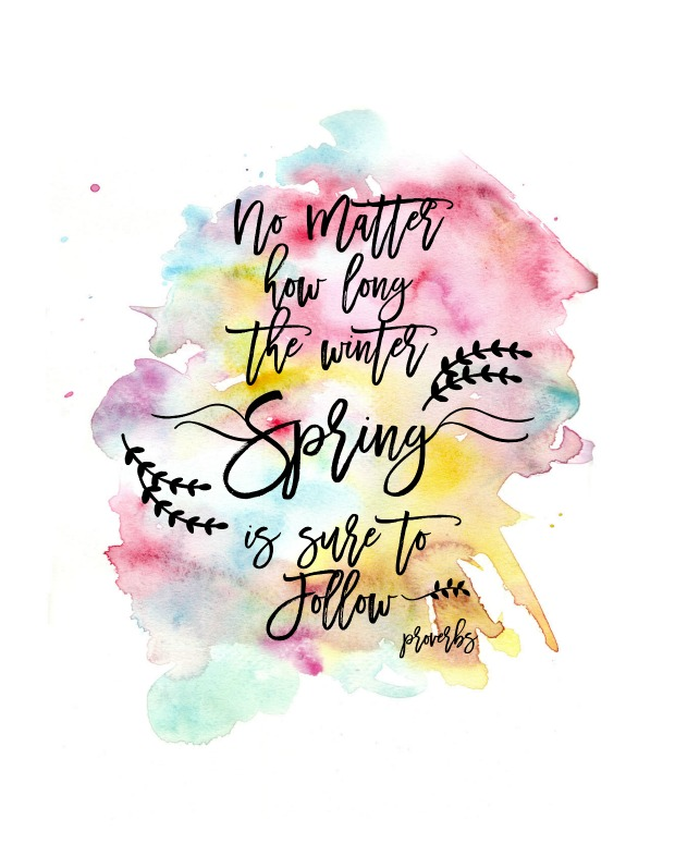 Spring Watercolor Printable