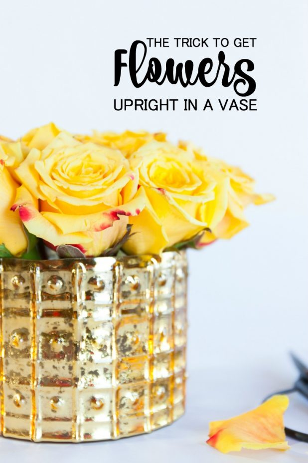The Trick To Get Flowers Upright In A Vase