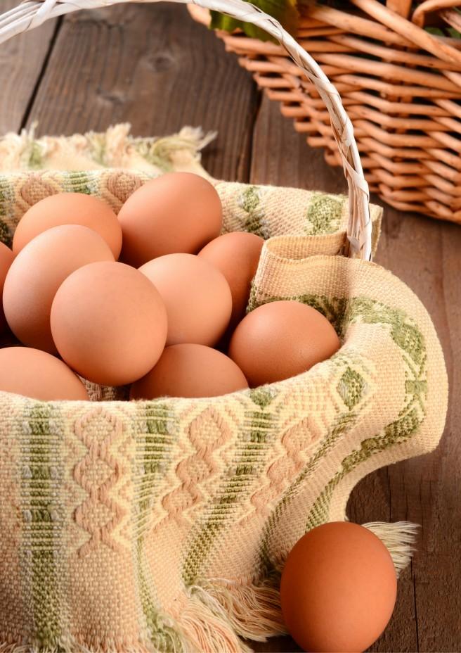 Farm Fresh Eggs in a Basket