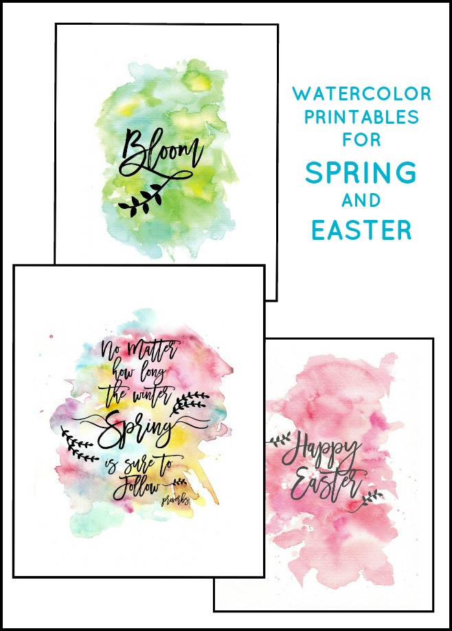 Free Downloadable Spring and Easter Watercolor Printables