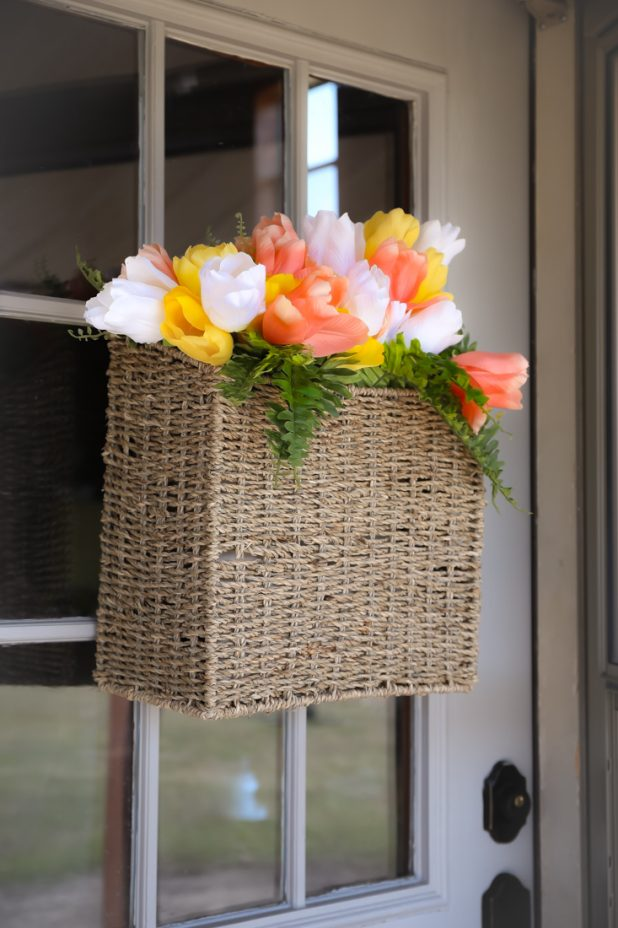 Easy DIY Tulip Basket For Any Door