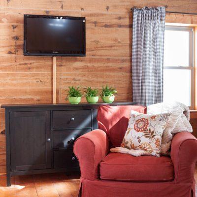 Ikea Sideboard and Wall Mounted TV