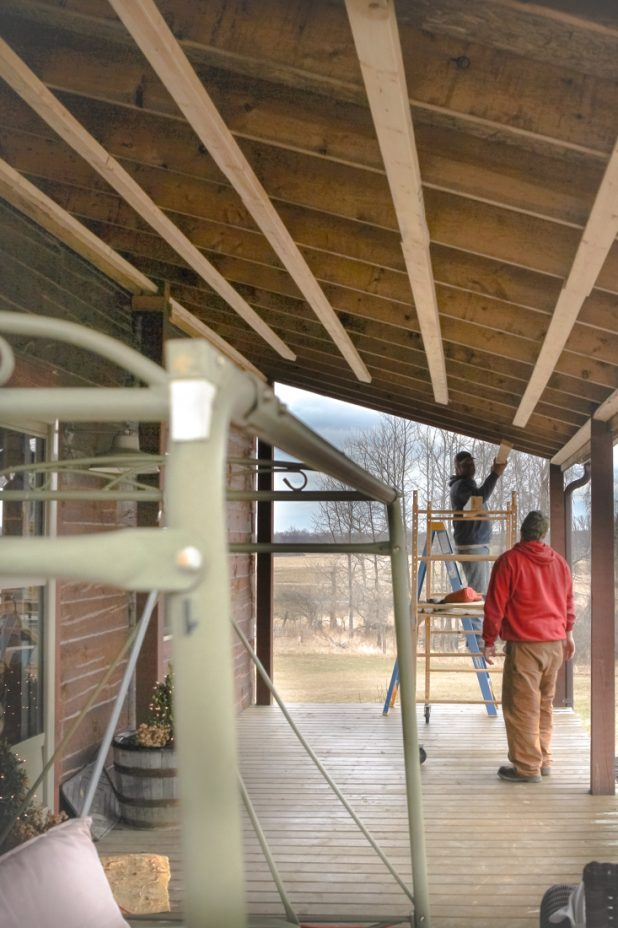 Adding the Ceiling to the Porch