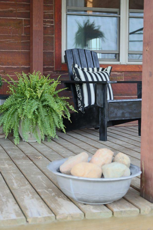 Front Porch Using Black, White, Yellow & Tan