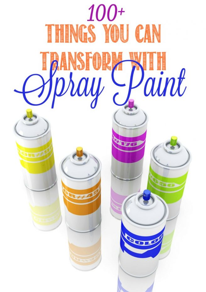 Over 100 Ideas of How to Use Spray Paint