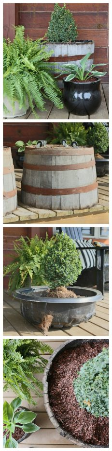Why you need to add casters to your whiskey barrel planters.