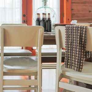 Spray Painted Dining Room Chairs In Almond