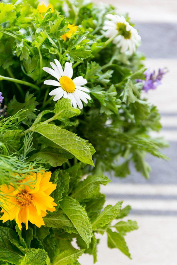 Herb and Flower Arrangement