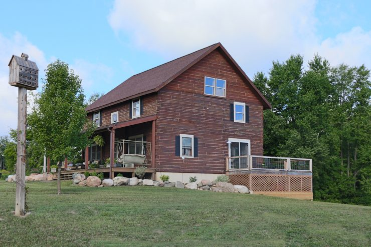 Log Home Porch