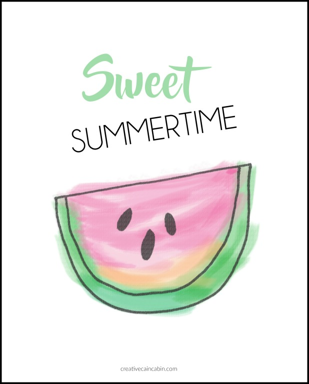 Sweet Summertime Free Printable Download