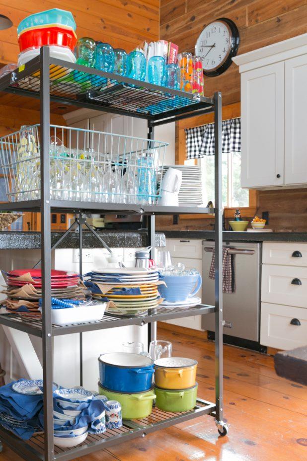 Oragami Shelf In the Kitchen