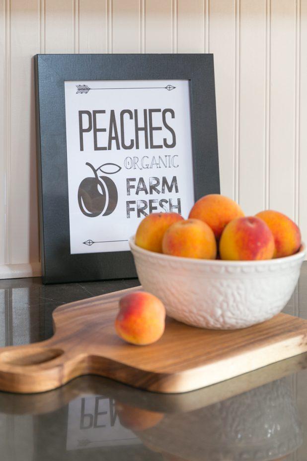 Farmhouse Printables, Harvest Printable, Peach Printable, Farmhouse Style