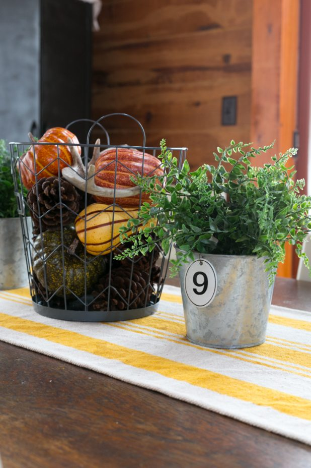 Farmhouse Fall Touches In The Dining Room