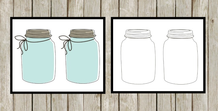 Farmhouse Mason Jar Grocery List Printable, and a DIY Clipboard To Keep You Organzied