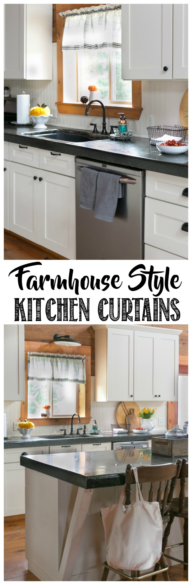 Farmhouse Style Kitchen Curtains