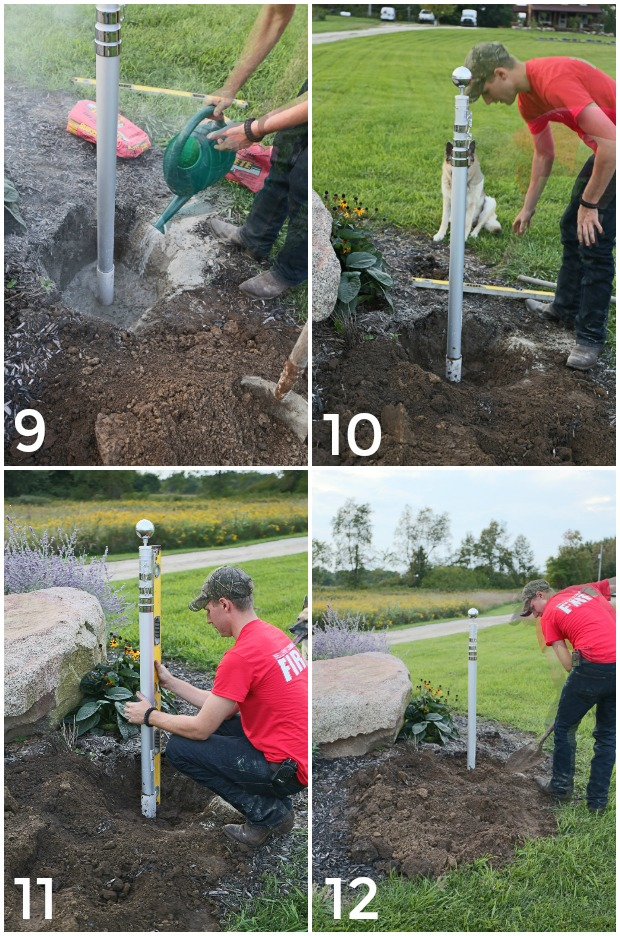 12 Step For Adding An In-Ground Flagpole & How To Landscape Around It.