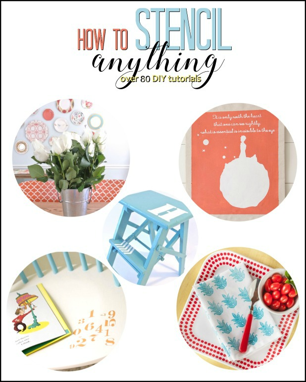 How To Stencil Anything, Over 80 Creative DIY Stencil Tutorials