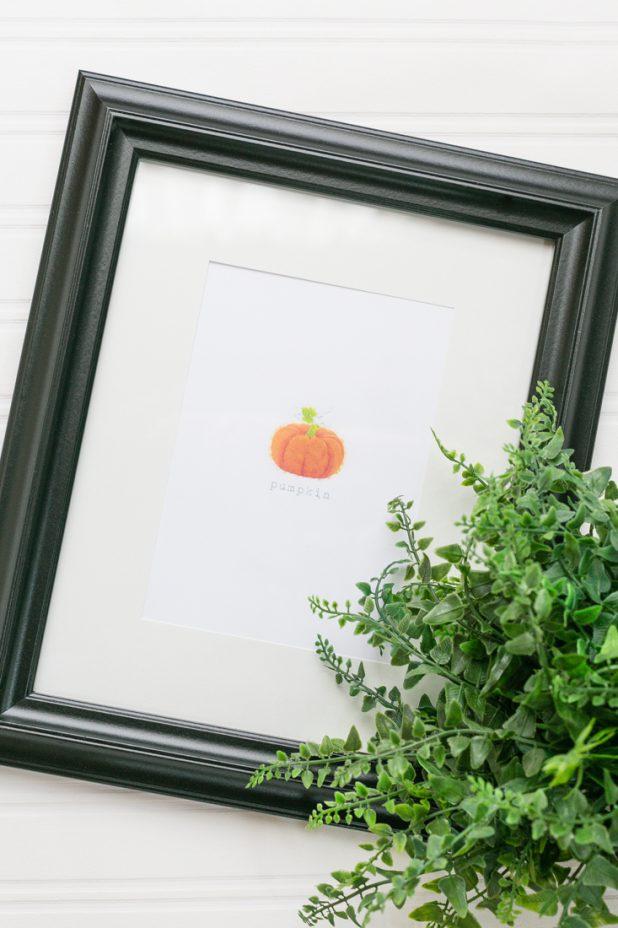 Pumpkin Watercolor Printable, Fall Watercolor Pumpkin