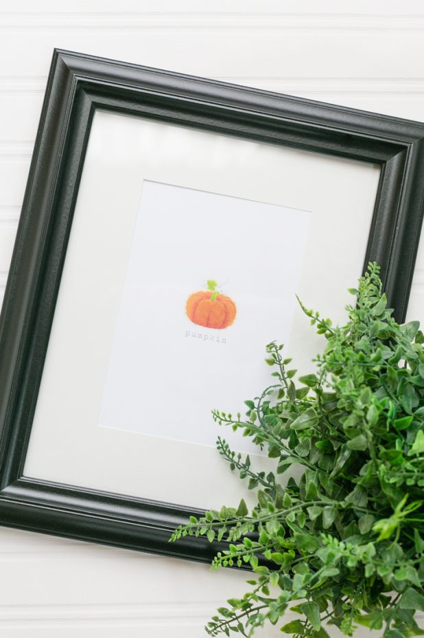 Pumpkin Watercolor Printable, Fall Watercolor Pumpkin