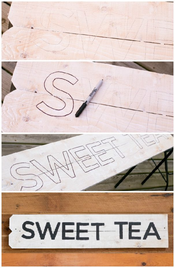 Steps 5-8 For Making a Vintage Farmhouse Kitchen Sign