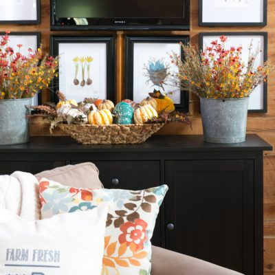 Easy Fall Living Room Decor