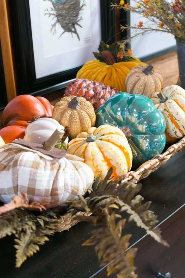 Fall Autumn Decorating With A Mixture Of Pumpkins