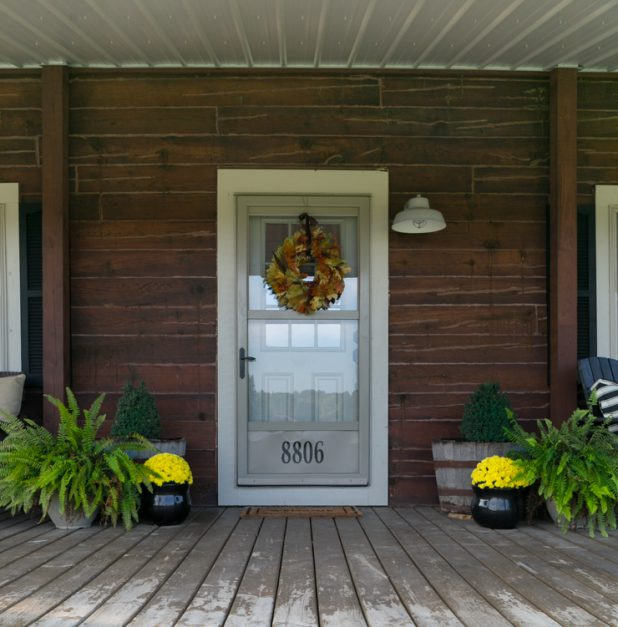 Rustic Cabins Fall Porch