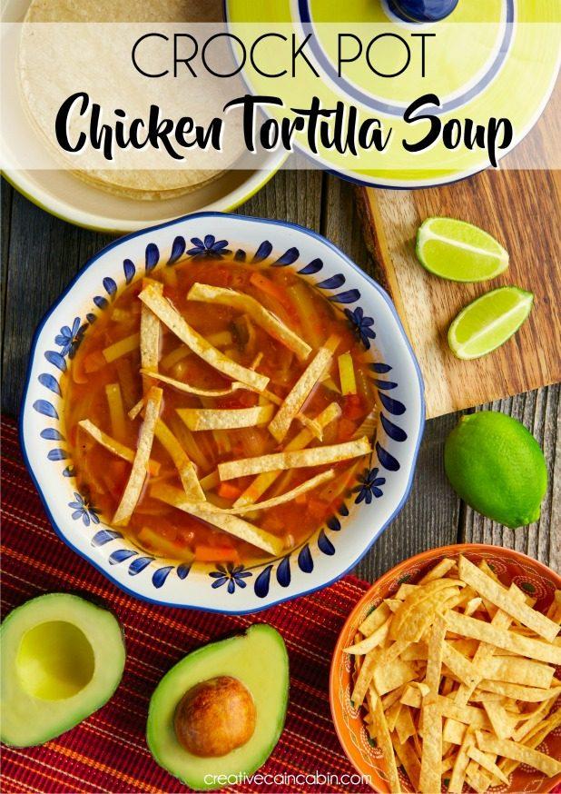Chicken Tortilla Soup in a Crock Pot