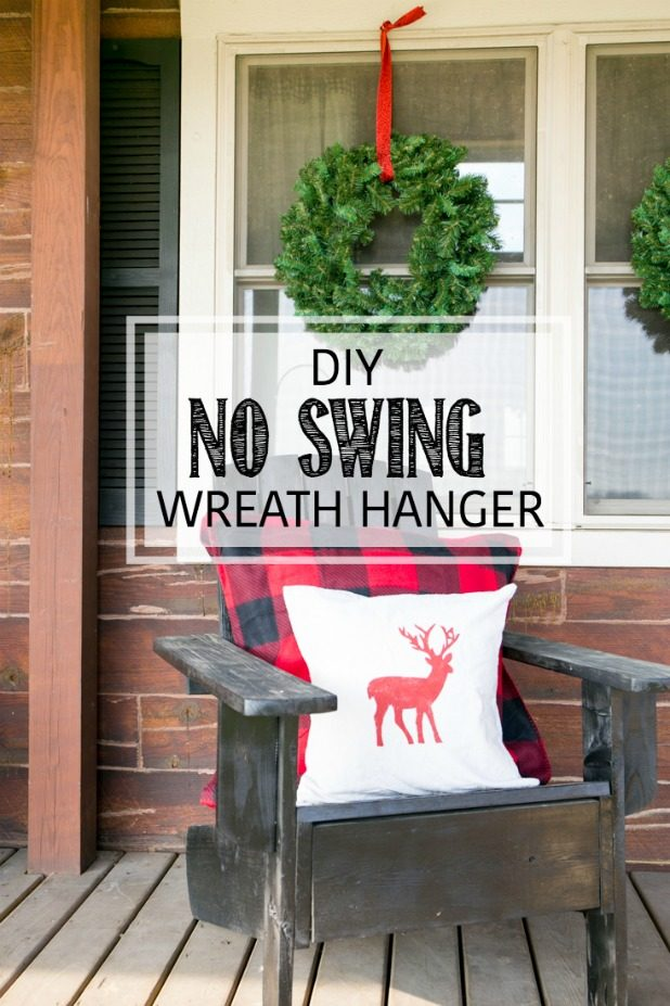 Use This To Stop Your Wreaths From Swinging Outdoors, From Tearing Ups Screens, They Stay In Place All Season Long With This DIY No Swing Wreath Hanger