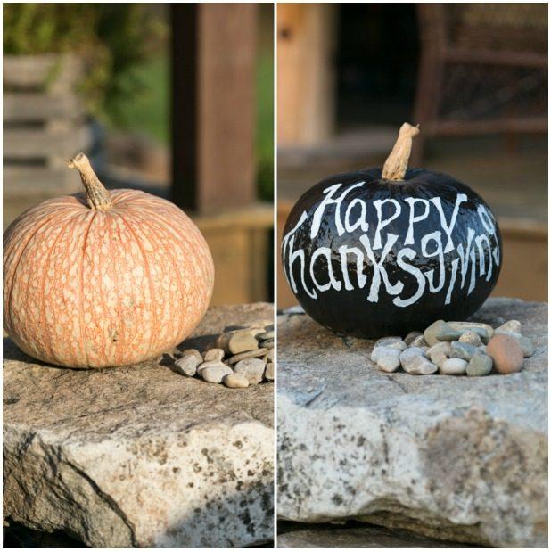 Chalkboard Pumpkin, Thanksgiving Pumpkin, Recycled Pumpkin, Upscale Pumpkin, Chalkboard Art