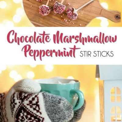 Chocolate Marshmallow Peppermint Stir Sticks For Cocoa