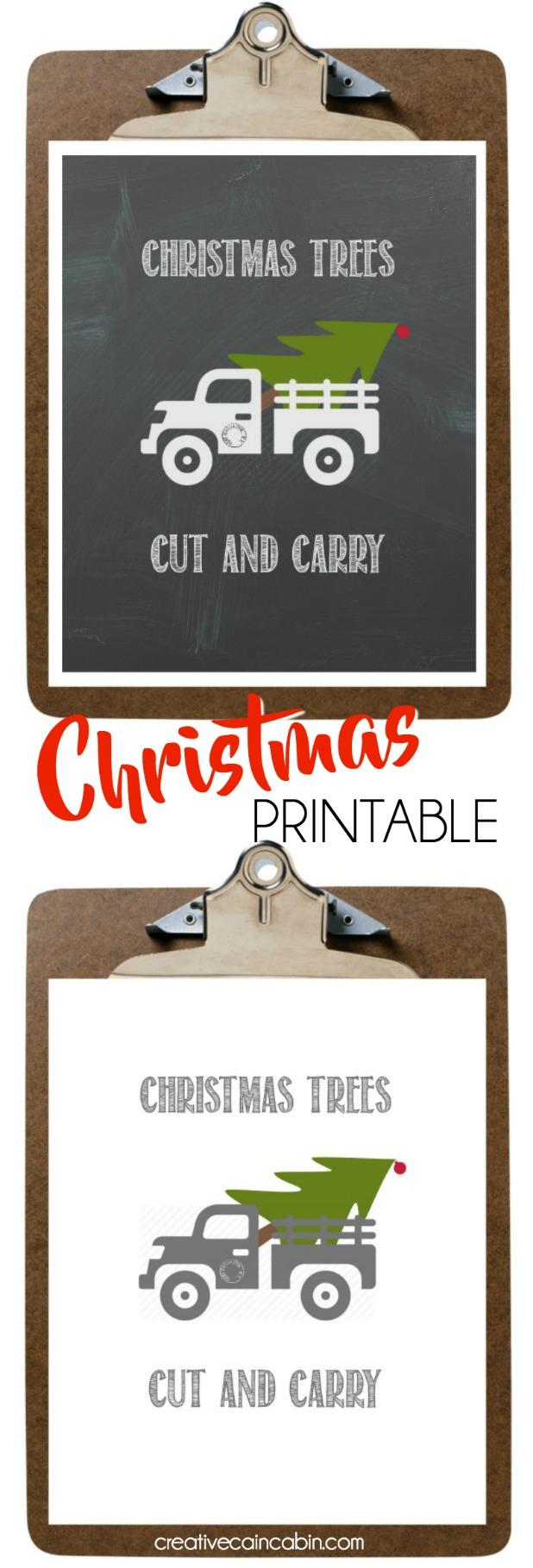 Christmas Tree Farm Truck Printable Cut and Carry