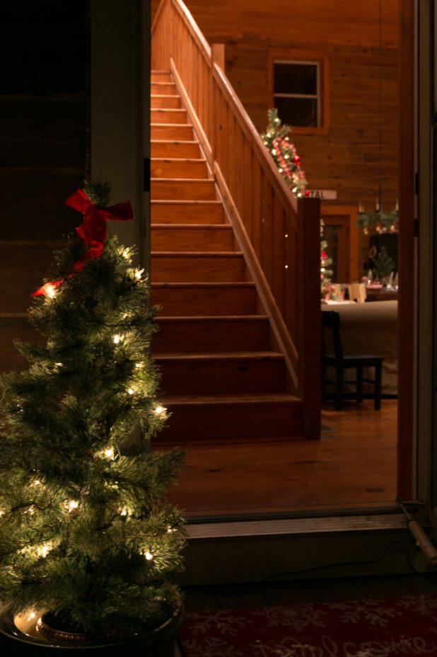 Christmas Cabin After Dark