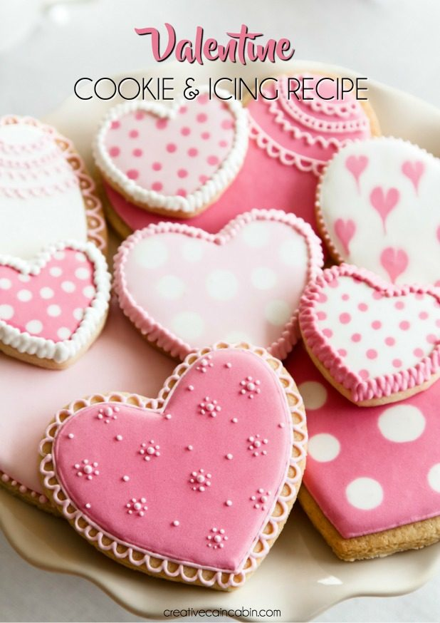 Valentine Cookie and Icing Recipe