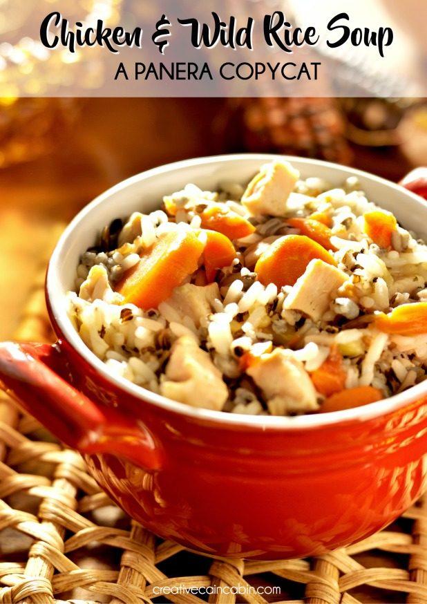 Panera Copycat Creamy Chicken and Wild Rice Soup Recipe
