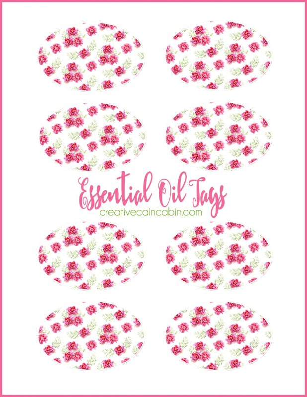 Printable Essential Oil Tags To Keep Track of Diffuser Necklace Recipes