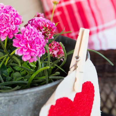 Rustic Valentine Porch Decor