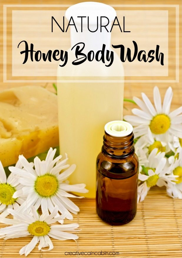 DIY Natural Essential Oil and Honey Body Wash